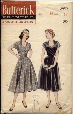 Butterick pattern 6407, from 1953