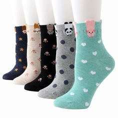 Girls Socks Mid-Calf Cats Christmas Kitty New Year Winter Hat Funny White Winter Warmth Fantastic For Decor