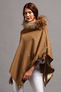 Luxury Handmade Hooded Fur Cloak- thick double-sided fur and beautiful oversized hood Ohwt86