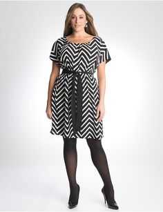 Plus Size Chevron Stripe Dress by Lane Bryant | Lane Bryant
