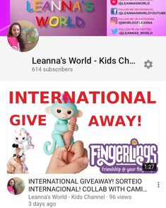 Hello everyone! PLEASE HELP US REACH 1000 BEFORE YOUTUBE CHANGES THEIR MONETIZATION RULES! And you could win a FINGERLINGS -  OR  you choose! Lets all support each other! You can find the link to my GIVEAWAY in my bio thank you so much!  #youtuber #subscribe #kidsyoutube #youtubechannel #giveaway #sorteio #brinquedos #toysrus #fingerlings #unicorn #monkey #crianças @caminhos_de_siao_canal_sud