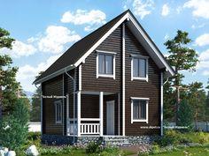 Брусовой дом 6х7. Проект дома из бруса с мансардой 6 на 7