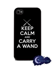 Keep Calm and Carry A Wand iPhone Cover  Free US by Insomniac Arts, $15.99