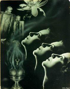 Advertisement for Cocaína en Flor, c.1935. Photograph by Josep Masana.