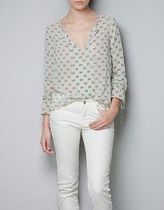 GEOMETRIC PRINT TOP - Shirts - TRF - ZARA United States $39.90