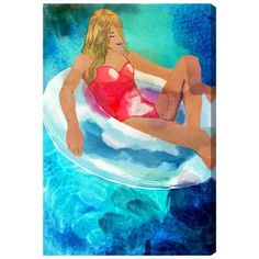 Mercury Row Water Bound Painting Print on Wrapped Canvas Size: