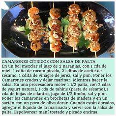 CAMARONES CÍTRICOS CON SALSA DE PALTA