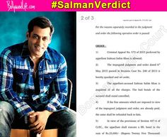 Salman Khan hit and run verdict: Check out the High Court orders issued for the Sultan star's acquittal! #SalmanKhan