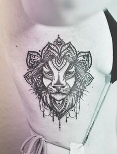 under boob tattoo lion - Google Search