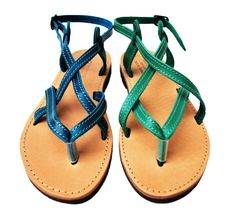 Womens Leather Sandals  Any Color  Any Size by NikolaSandals, $49.00