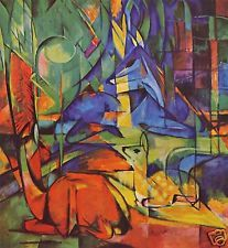 Deer in Forest by Franz Marc