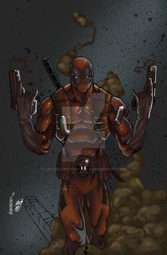 Deadpool by Carlo Barberi Color by JPVilchisartist.deviantart.com on @DeviantArt
