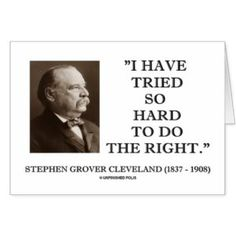 #GroverCleveland is one of our most underrated #Presidents. He should be remembered for his #integrity.