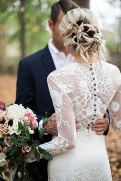 Winona long sleeve lace wedding dress from the Romantique collection by Claire Pettibone #winterweddingdresses