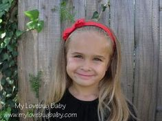Solid Color Non Slip Headband with Matching Bow by MyLovebugBaby