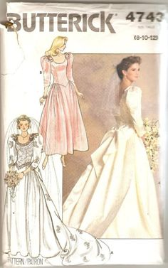 Vintage Wedding Gown and Bridesmaid Dress Butterick by CuttingBack