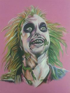 A3 beetlejuice drawing. Faber castell pencils