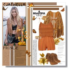 """Festival Trend: Fringe!"" by tinaisapenguin ❤ liked on Polyvore featuring Ganni, fringe, coachella, contestentry, polyvoreeditorial and polyvorecontest"