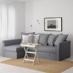 Queen sleeper sofa for gameroom HOLMSUND Sleeper sectional, Nordvalla medium gray - - - IKEA Sofa Bed Frame, Sofa Bed With Chaise, Ikea Sofa Bed, Cama Ikea, Bed Storage, Storage Spaces, Grey Corner Sofa, Sleeper Sectional, Bedding