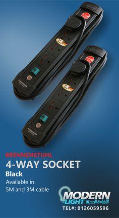 4 WAY SOCKET MODERNLIGHT - JEDDAH - TEL#: 0126059596 #Modernlight, #modernlightJeddah, #modernlightksa