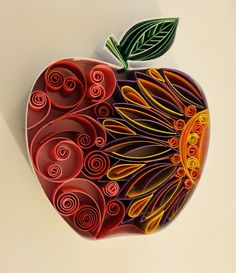Apple quilling by Amy