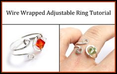 Learn how to make a simple, elegant, and adjustable ring in this wire wrapped jewelry tutorial. Tools/supplies used in video: 18 gauge dead soft silver-fille...