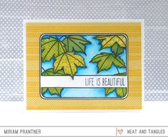 Maple Leaves in the Spring  - Products and inspiration from Neat And Tangled: http://neatandtangled.blogspot.com/