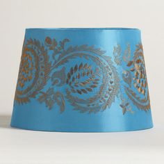 One of my favorite discoveries at WorldMarket.com: Blue Embroidery Accent Lamp Shade