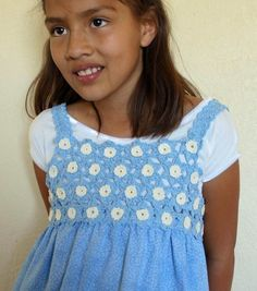 Fun with Flowers Dress Topper | You Can Make This