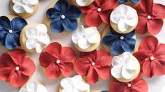 of May / of July 4th Of July, Goodies, Floral, Flowers, Cupcake, Dessert, Cakes, Sweet Like Candy, Florals