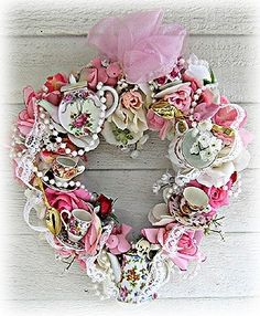 Tea Cup Wreath ♥