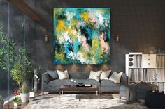 Items similar to Large Abstract Canvas Art,Extra Large Abstract Canvas Art,painting on canvas,modern abstract,extra large wall art on Etsy Large Canvas Art, Abstract Canvas Art, Large Painting, Canvas Wall Art, Textured Painting, Gold Canvas, Oversized Wall Art, Extra Large Wall Art, Large Art