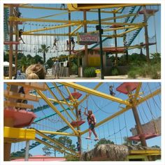 Things to Do: Mountain of Youth Climbing Ropes Course at LuLu's Restaurant! For kids and adults, a very awesome thing to do! $7 per person, it should take at least 10 minutes to get through. Located right outside of Lulu's at Homeport Marina. ★ 200 E 25th Ave, Gulf Shores, AL 36542 ~Addie Thornton