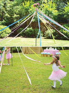 DIY Maypole — a fun activity for girls' parties