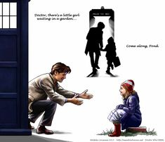 Come Along, Pond by Saimain.deviantart.com on @deviantART // I wish this had happened so much.... He needs a child for a companion!!