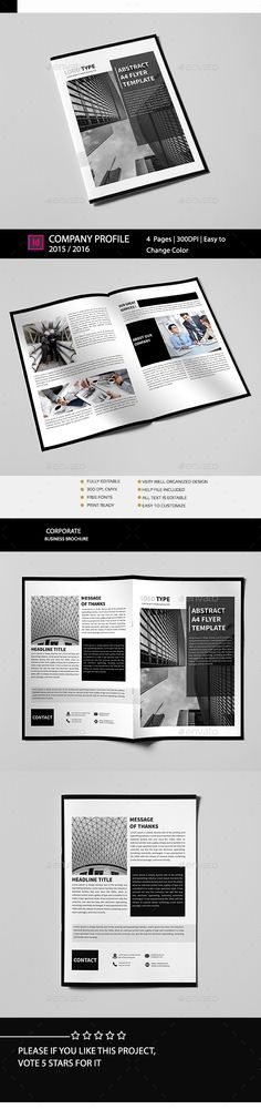 Corporate Bi-Fold Brochure Template InDesign INDD. Download here: http://graphicriver.net/item/corporate-bifold-brochure/16150811?ref=ksioks