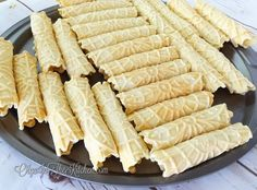 Cream Filled Pizzelles (trubochki): Creamy, sweet, beautifully shaped dessert that is super tasty with a cup of coffee or tea.   olgainthekitchen.com