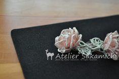 薔薇のお花と朝露。の画像:タティングレース便り ~アトリエ さかみち~