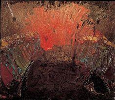 Lc  12,8-12 Lo Spirito Santo vi insegnerà - William Grosvenor Congdon (1912 - 1998), Pentecoste 2, 1962 circa, olio su tela, 4 cm x 4 cm, Collezione dell'ente Provincia di Milano