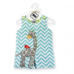 Chevron stripes are all the rage and are boldly displayed on this pair of textured cotton shortalls along with an adorable giraffe and bird dimensional applique. Part of Mud Pie's Safari baby collection: Jungle ani Little Boy Fashion, Kids Fashion, Zoo Da Zu, Mud Pie Baby, Unique Baby Gifts, Unisex Baby Clothes, Toddler Boys, 4 Kids, Infant Toddler
