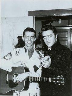 Elvis Presley with singer  Justin Tubb