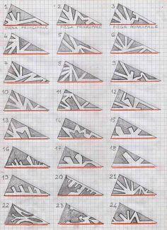 Models for making paper snowflakes - modelli per fiocchi di neve