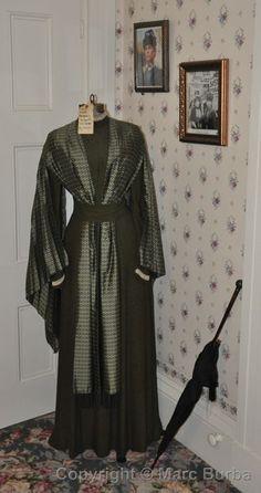 "Dress Elizabeth Montgomery wore in last scene of ""The Legend of Lizzie Borden"", the Lizzie Borden B & B, Fall River, Mass."