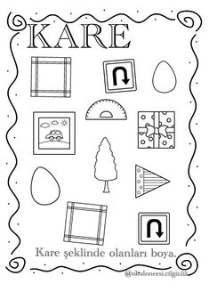 Homework, Kindergarten, Shapes, How To Plan, Math, Geometric Fashion, Different Shapes, Activities, Christmas
