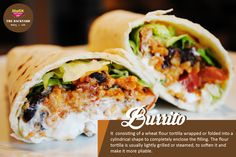 #OrderOfTheWeek - #Burrito, a wheat flour tortilla wrapped into a cylindrical shape to completely enclose the filling that fits to your taste buds!  Try it once at #Mafix #Backyard