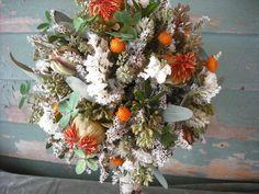 Dried flower Bridal bouquet with Birch handle by NHWoodscreations Dried Flower Bouquet, Dried Flowers, Wedding Flowers, Wedding Day, Sweetest Day, Flower Boxes, Floral Arrangements, Birch, Floral Wreath