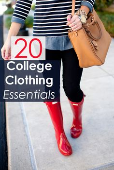 20 Clothing Essentials For Your College Wardrobe This is a great college clothes packing list for everyone who is still unsure about what to bring! - 20 Clothing Essentials for Your College Wardrobe College Packing, College Essentials, College Hacks, College Outfits, College Clothing, Wardrobe Clothing, College Survival, College Checklist, School Outfits