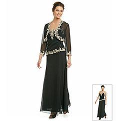 63dbee6519f Product  J Kara® Long Beaded Dress with Jacket Groom Dress