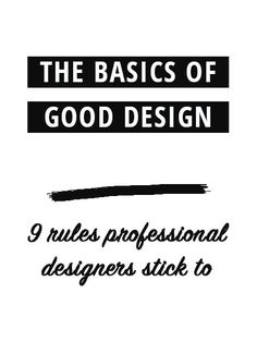 When it comes to creating something for your blog and biz you want to achieve a good design that pleases your audience or customer. But what actually makes a good design? Find out here.