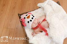Newborn Snow Girl Set Photo Prop
